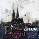 Bild Kölner Dom abstrakt von Vittorio Vitale 30x30 cm
